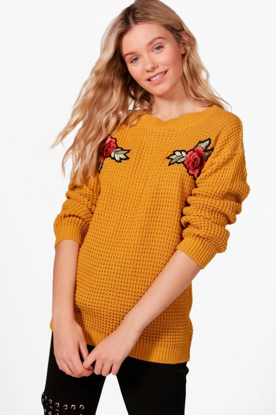 Grace Floral Embroidered Jumper