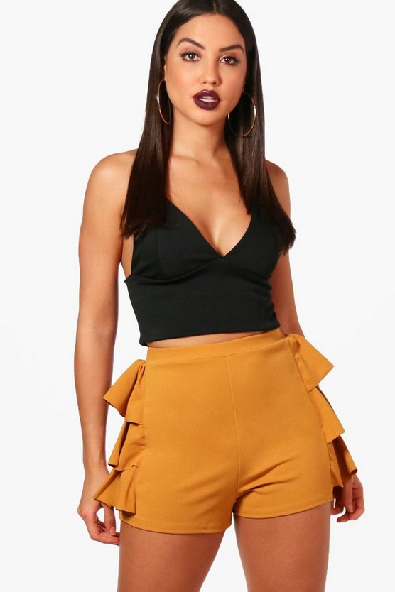 Izabella Frill Side Tailored Shorts