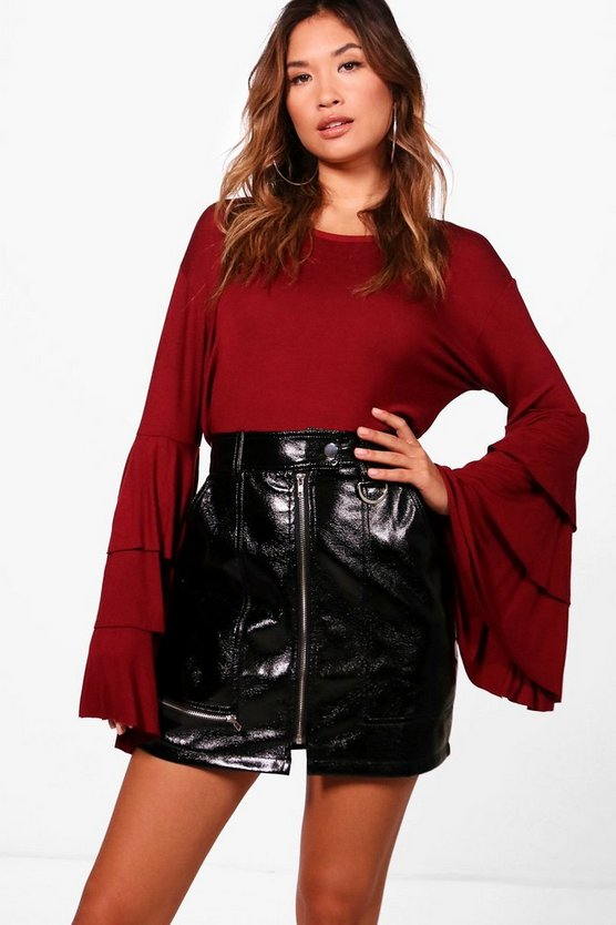 Rachel Tiered Ruffle Sleeve Top