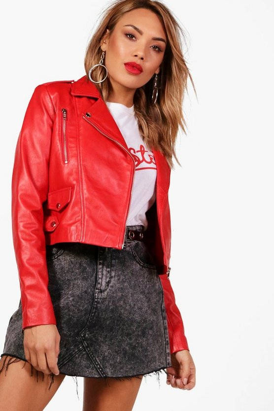 Paige Crop Leather Jacket