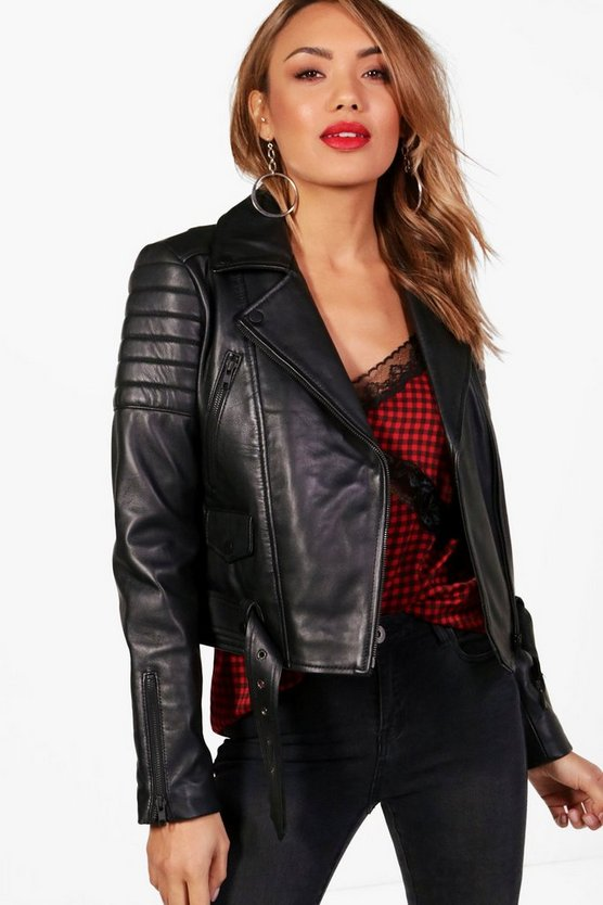 Erin Boutique Leather Biker Jacket