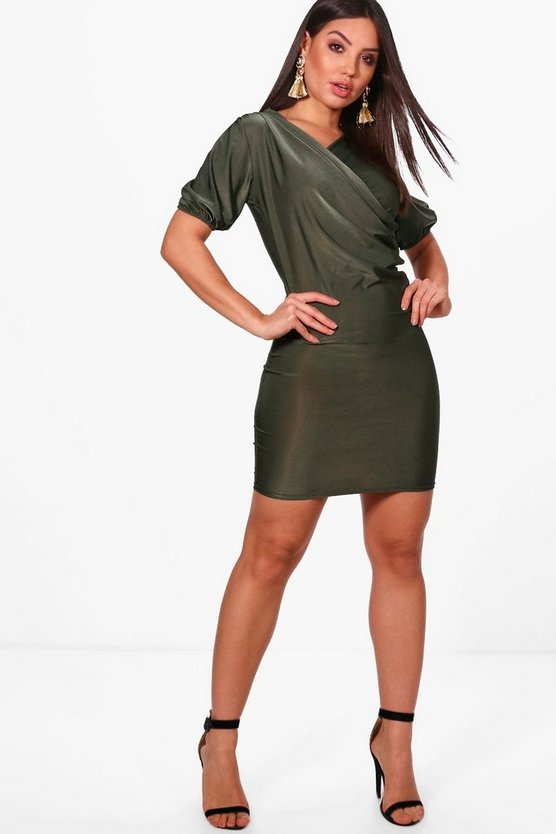 Pamela Slinky Draped Bodycon Dress