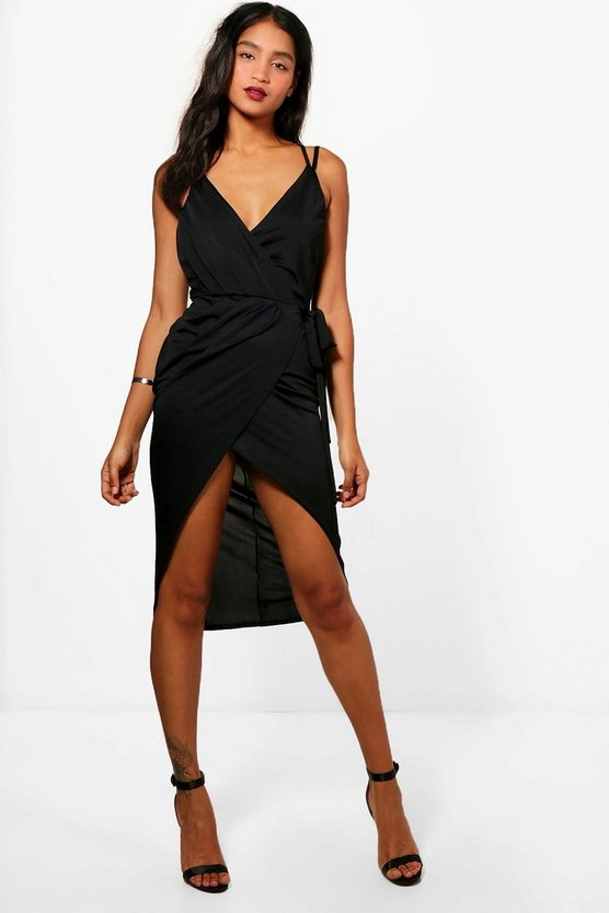 Florence Strappy Wrap Detail Midi Dress