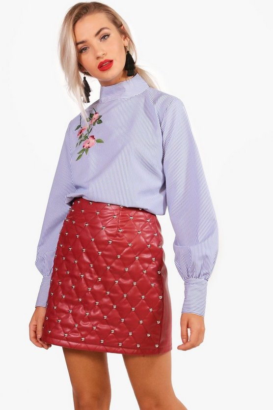 Nicola Stipe Floral Embroidered Top