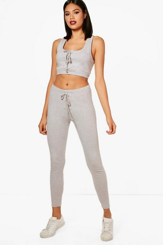 Lydia Fit Lace Up Sports Crop Top