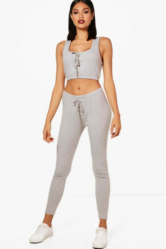 Frances Fit Lace Up Athleisure Leggings