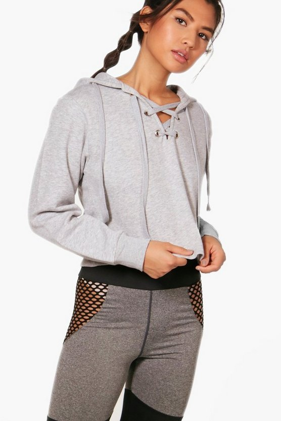 India Athleisure Lace Up Running Hoodie