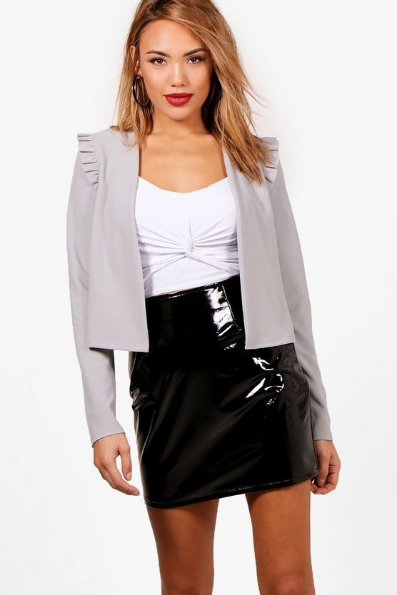 Paige Frill Sleeve Crop Jacket