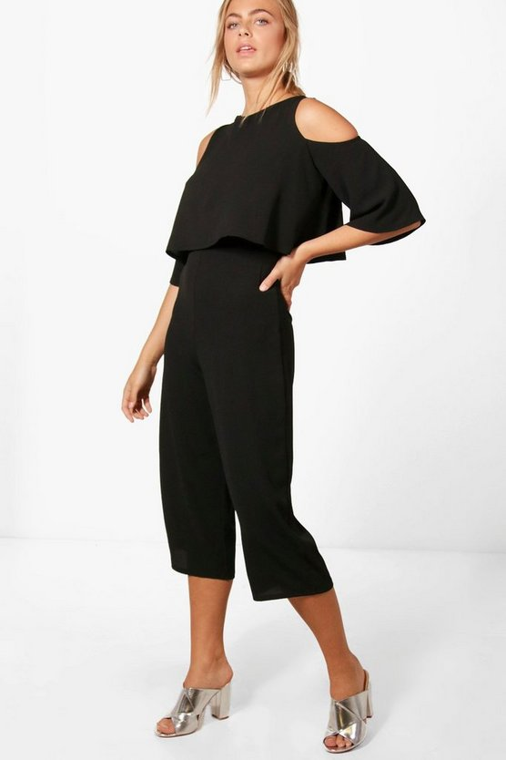 Joanna Cold Shoulder Layer Jumpsuit