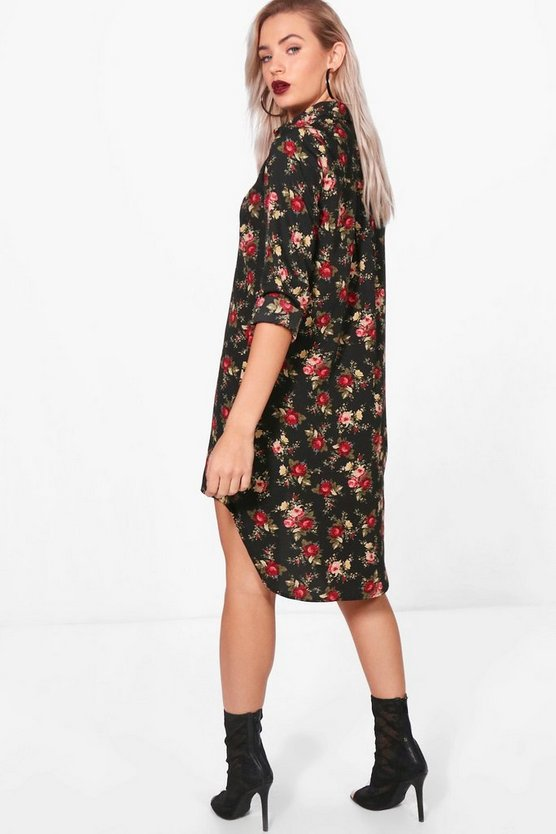 Em Floral Shirt Dress