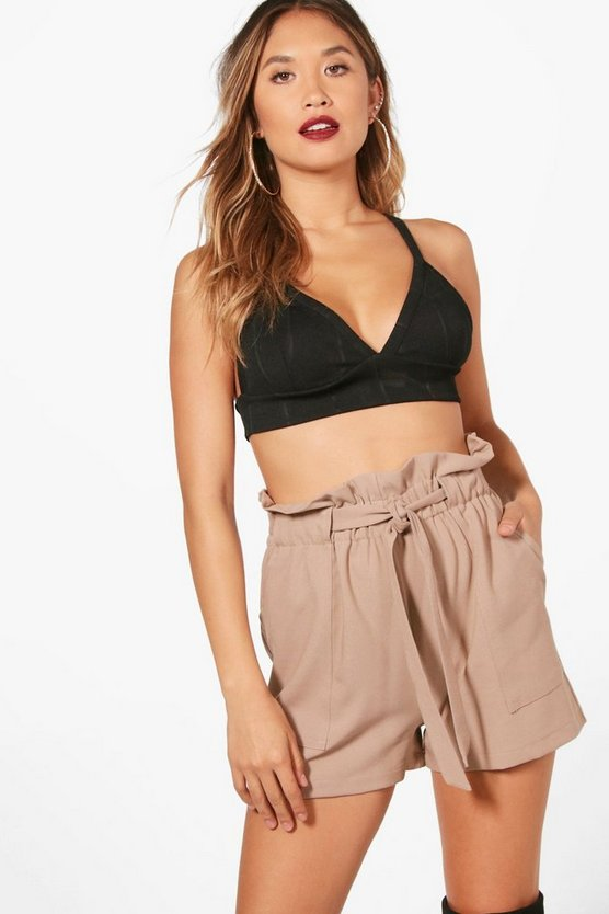 Freya Paper Bag Waist Tailored Shorts