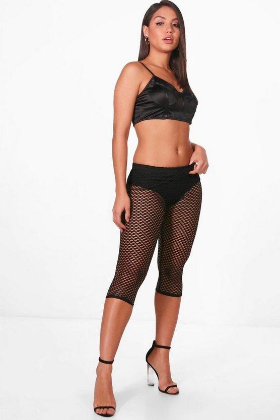 Mae Fishnet Cropped Leggings