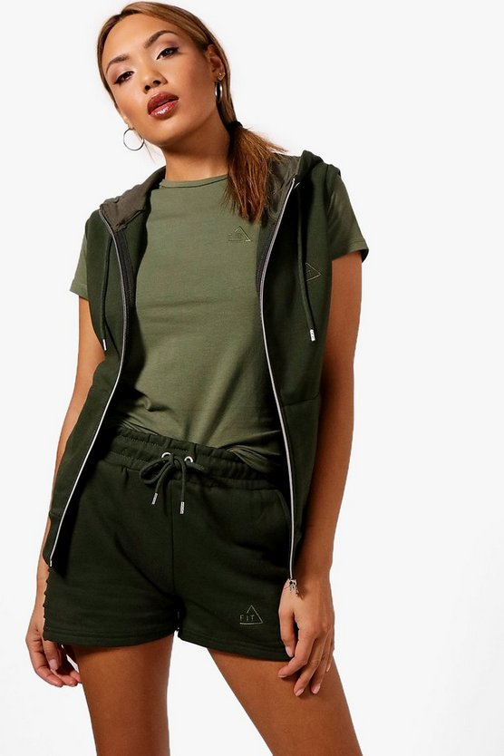 Heidi Fit Sleeveless Zip Through Hoody