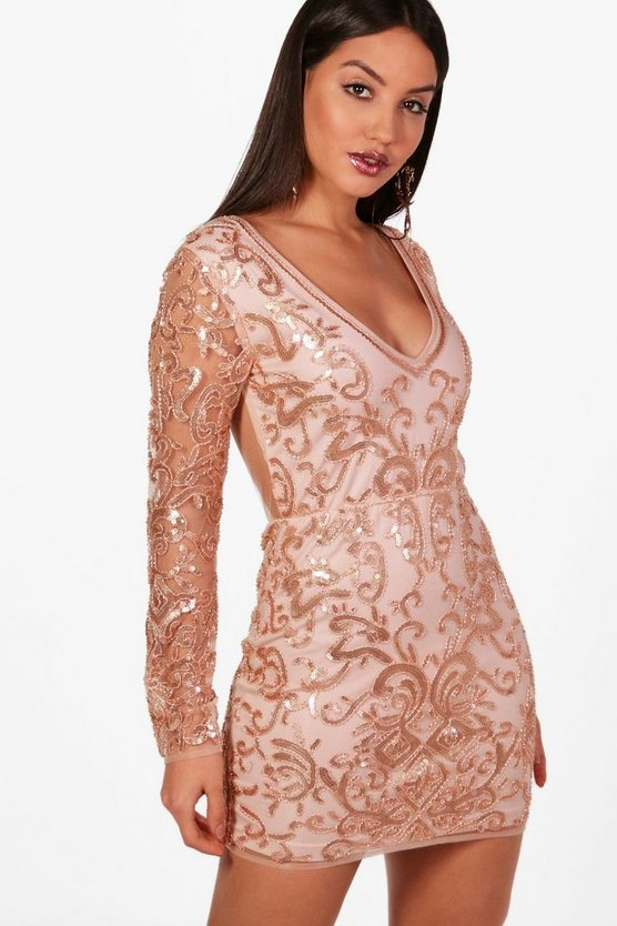 Boutique Laura Embellished Bodycon Dress
