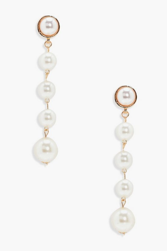 Millie Faux Pearl Drop Earrings