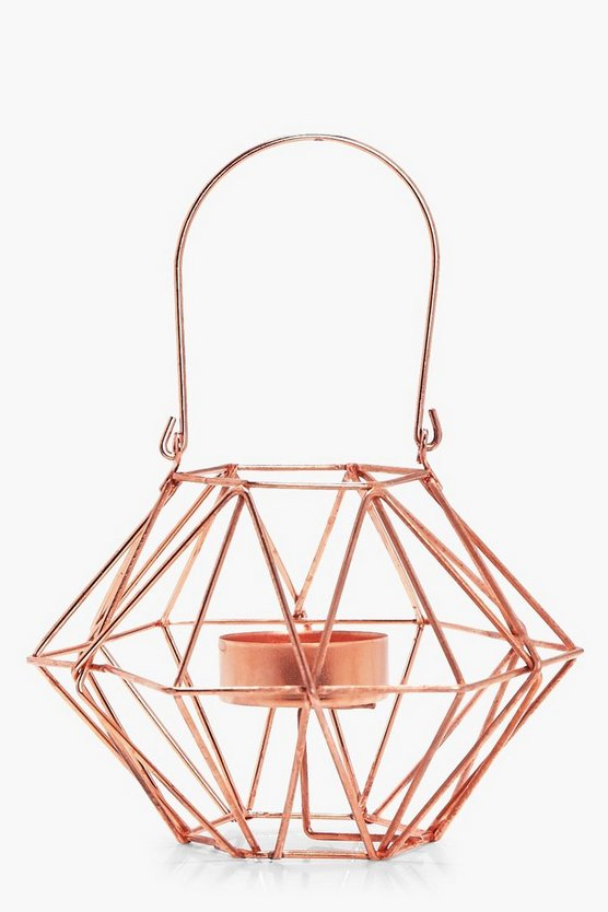 Polygon Metal Tealight Holder