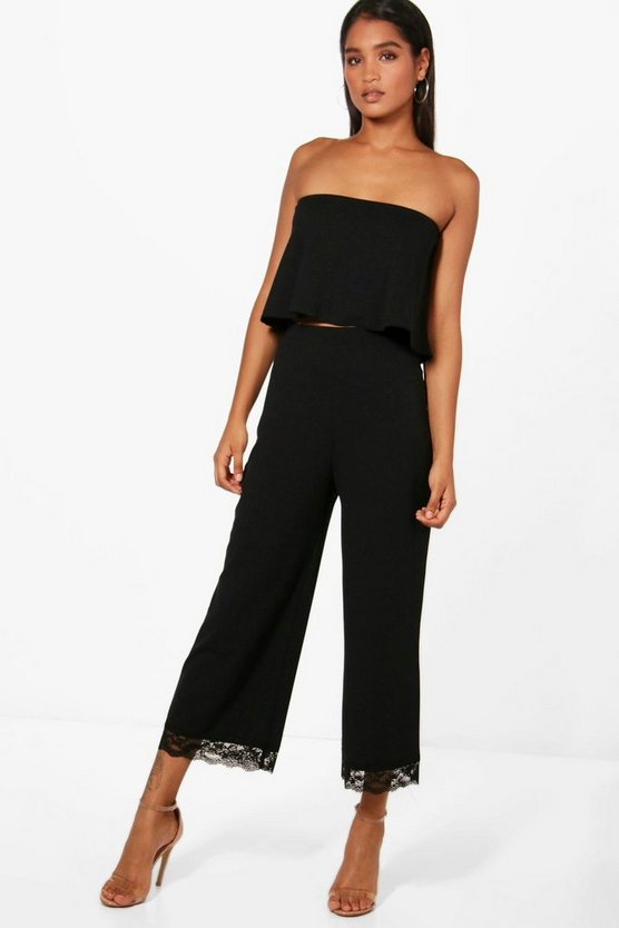 Cari Bandeau & Lace Hem Culotte Co-Ord Set