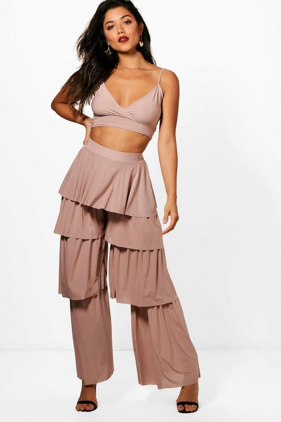 Mol Slinky Tiered Trousers & Bralet Co-Ord Set