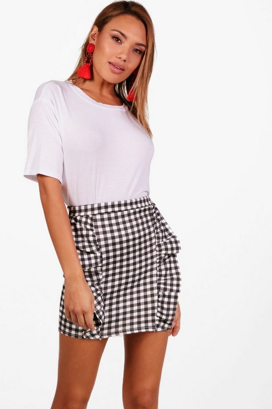 Gingham Ruffle Skirt & Tee Co-Ord Set