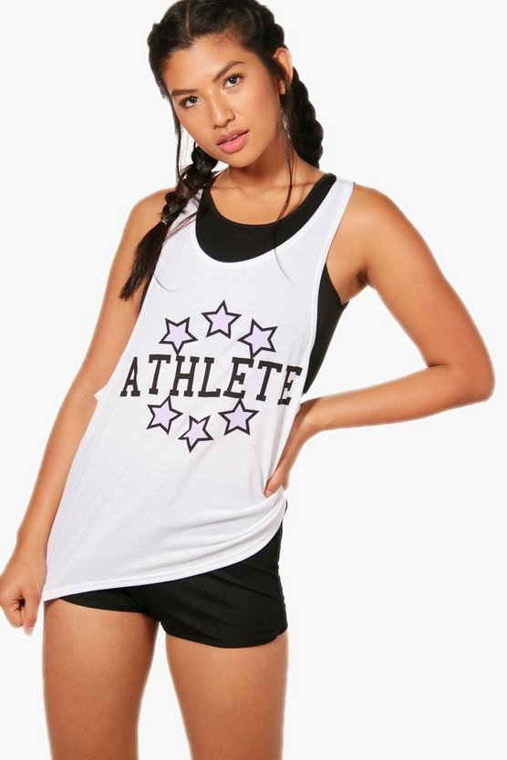 Masie Fit Athlete Slogan Workout Vest