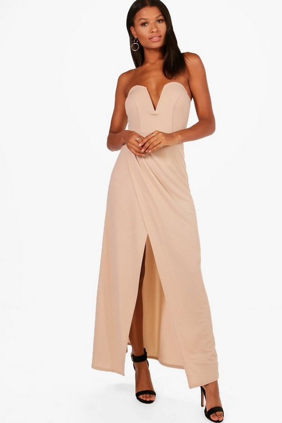Agnes Bandeau Wrap Detail Maxi Dress