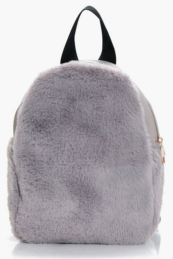 Willow Faux Fur Ziparound Rucksack