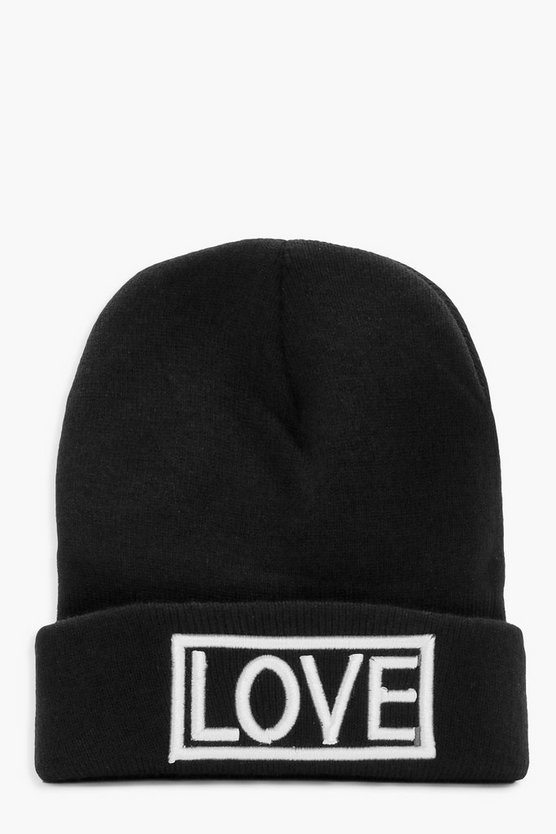Millie Love Slogan Boyfriend Beanie