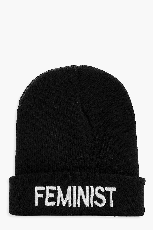 Feminist Boyfriend Beanie - black - Nancy Feminist