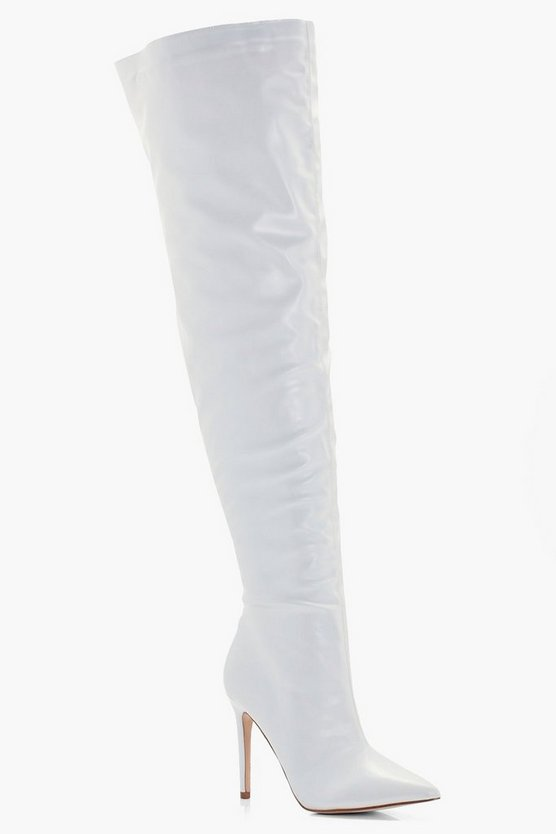 Darcey Pointed Toe Stiletto Over The Knee Boots