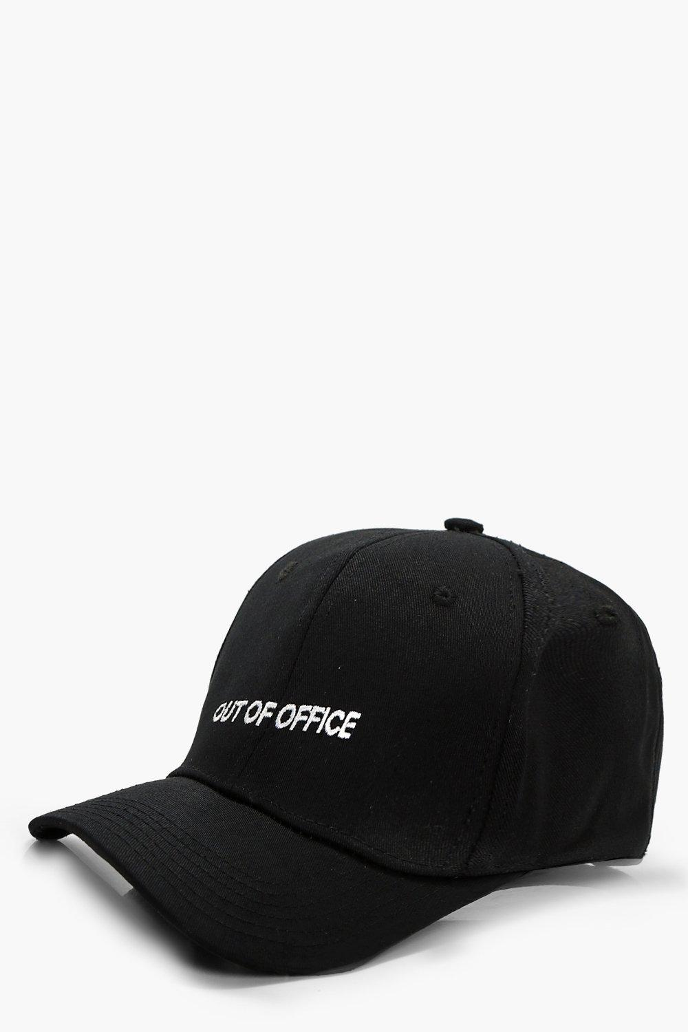 Out Of Office Baseball Cap - black - Emily Out Of