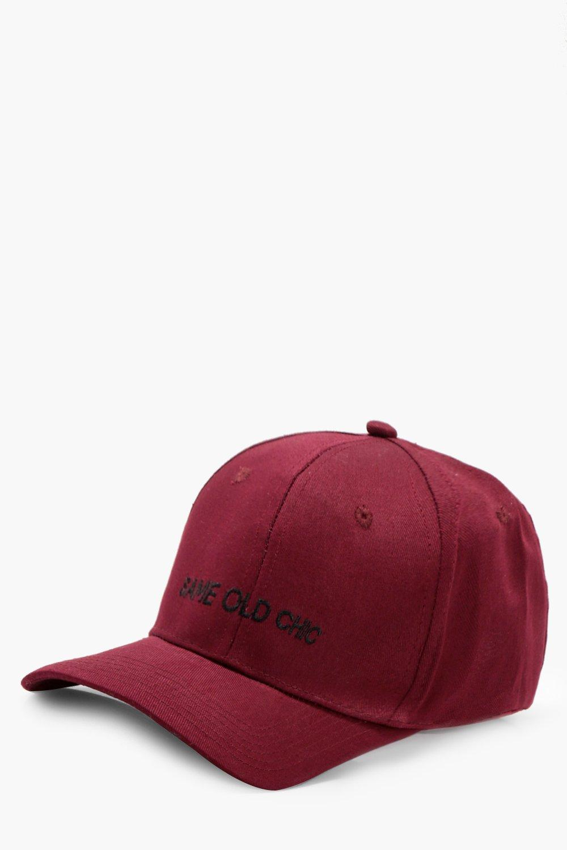 Same Old Chic Baseball Cap - burgundy - Eliza Same