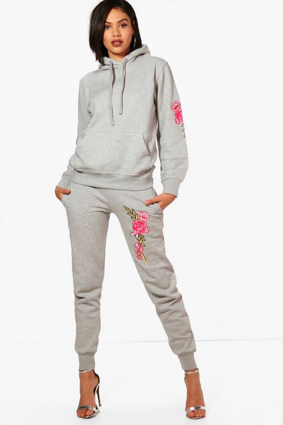 Grace Athleisure Hooded Embroidered Tracksuit