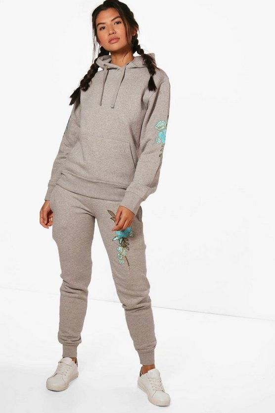 Ruby Fit Athleisure Embroidered Hooded Tracksuit