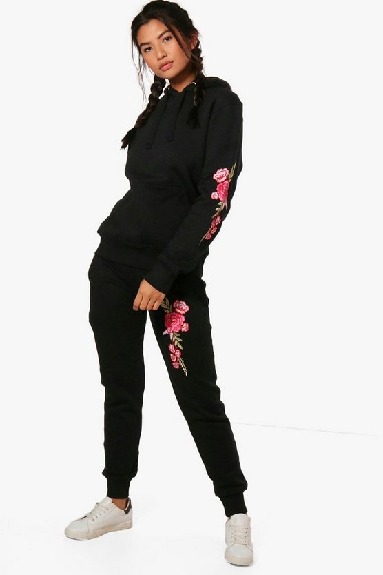 Sophie Fit Athleisure Embroidered Hooded Tracksuit