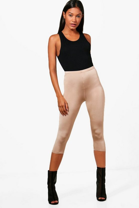 Hayley Cropped Disco Slinky Leggings