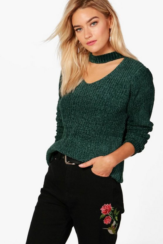 Holly Chenille Choker Jumper
