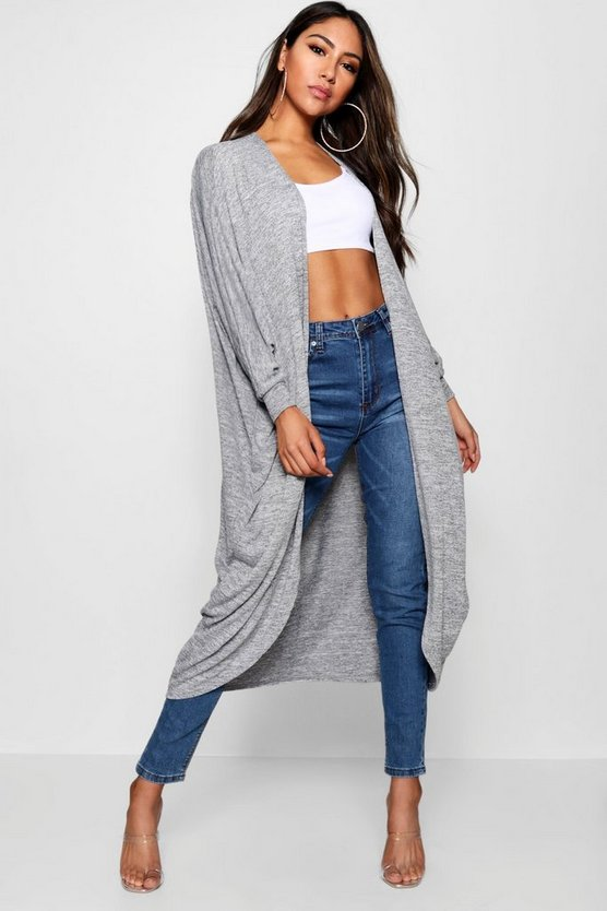 Harriet Marl Oversized Maxi Cocoon Cardigan