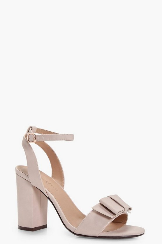 Lillie Bow Trim Block Heel