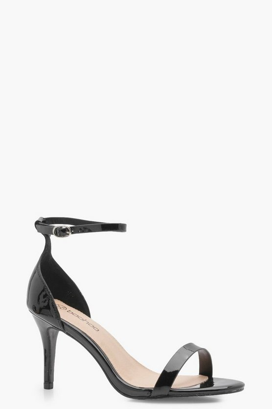 Wide Fit Patent Two Part Heels
