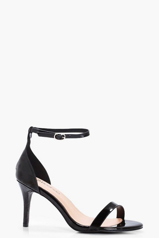 Lizzie Patent Two Part Heels