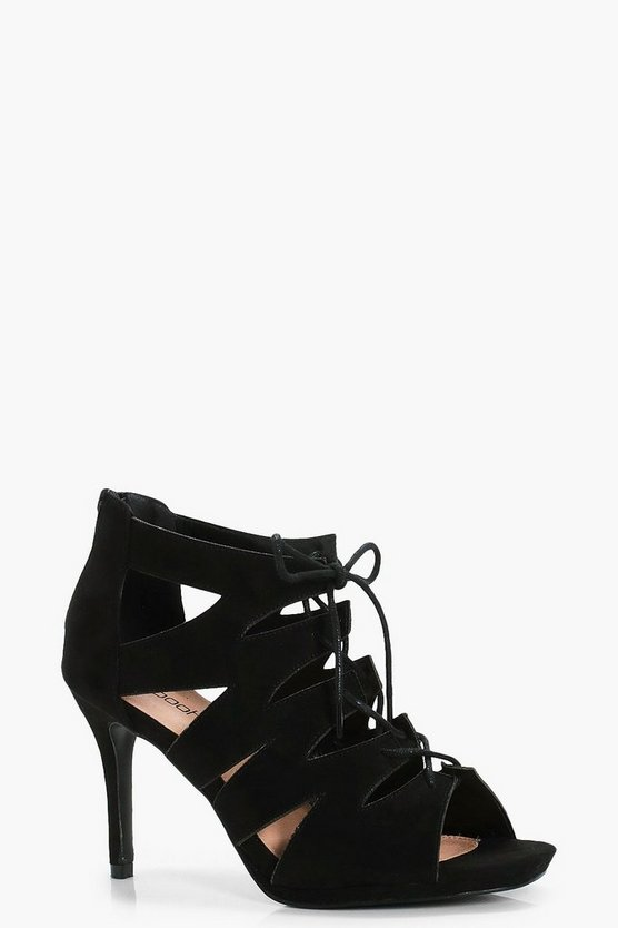 India Wide Fit Cage Ghillie Tie Heels