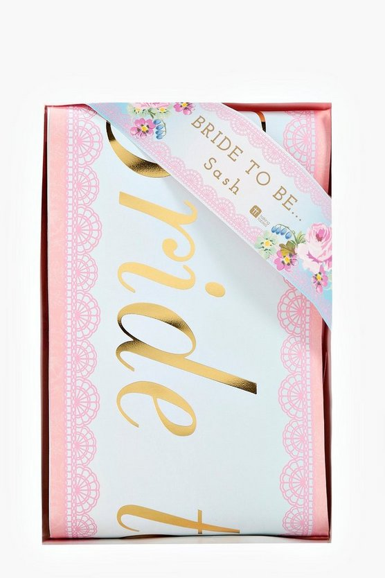 Bride To Be Floral Sash