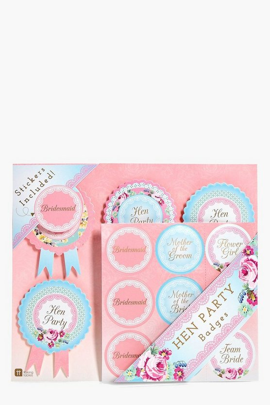 Personalised Hen Party Badges 6 Pk
