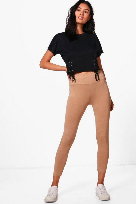 Larah Cropped Basic High Waist Leggings
