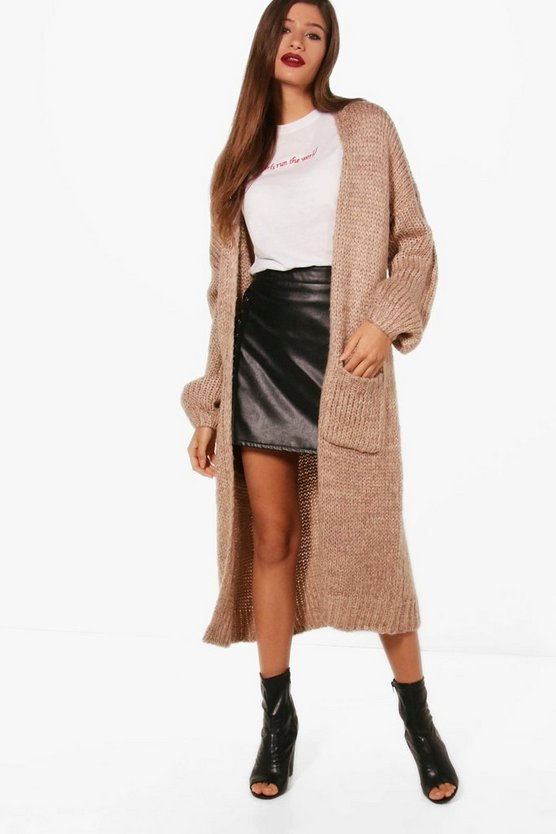 Heather Oversized Chunky Cardigan