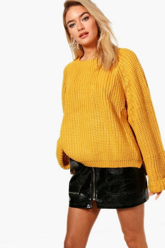 Amina Crop Oversized Jumper
