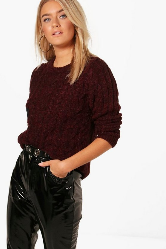 Katie Soft Knit Cable Jumper