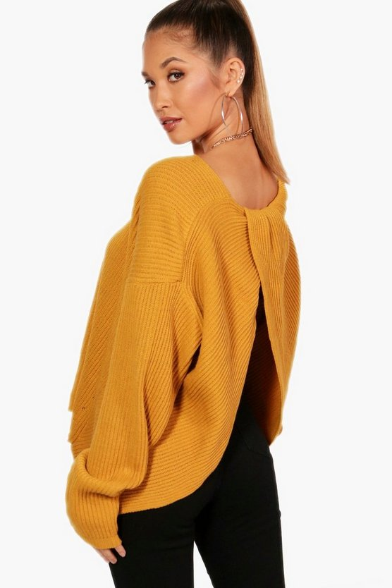 Twist Back Jumper