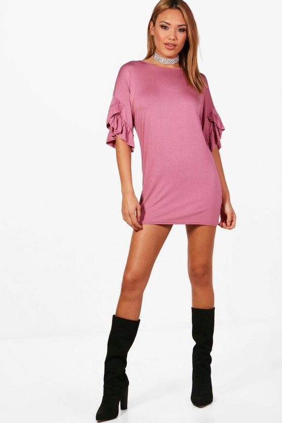 Jodie Frill Sleeve Shift Dress
