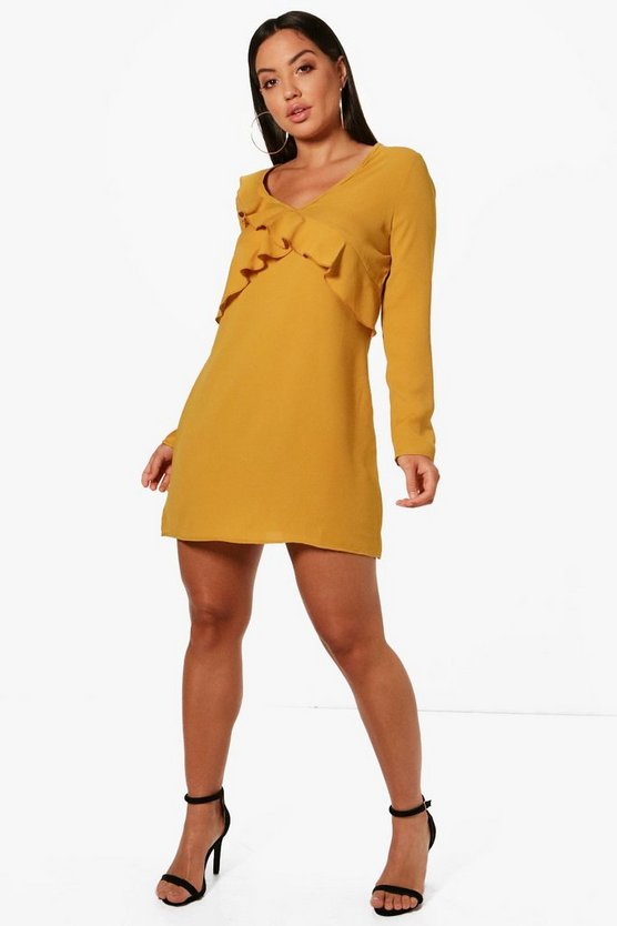 Ruffle Detail Shift Dress
